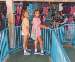 amusement park, clothes, and fashion image