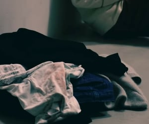 clothes, floor, and pile image