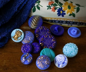 color inspiration, retro, and glass buttons image