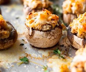 Cream Cheese & Garlic Stuffed Mushrooms