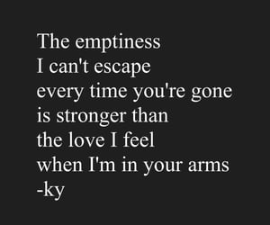 emptiness, poetry, and love quotes image