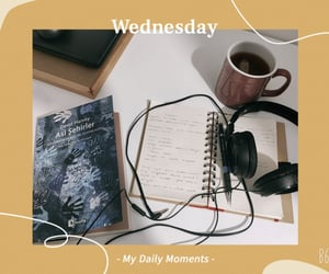 book, motivation, and tea image