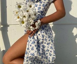 azul, vestido, and blanco image