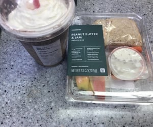 lunch, protein, and starbucks image