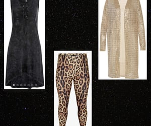 clothes, gold, and leopard image