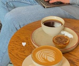 black coffee, cafe, and coffee image
