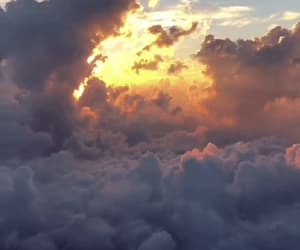 clouds, gif, and sky image