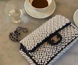 chanel, bag, and coffee image