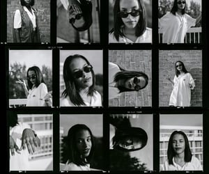 90s, aaliyah, and black and white image