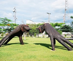 sculptures, nigeria, and naval base image