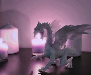 candle, candles, and dragons image