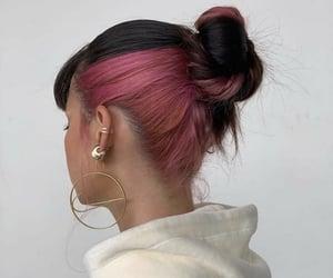 bun, hair, and spring image