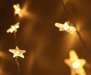 lights, yellow love, and night image