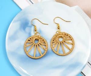 diy, earrings, and handmade image