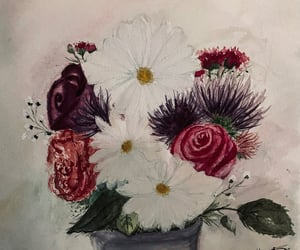art, flowers, and watercolor painting image