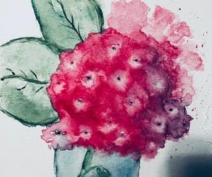 art, flower, and hydrangea image