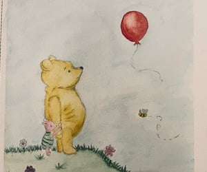 art, watercolor painting, and winnie the pooh image