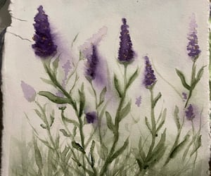 art, lavender painting, and watercolor image