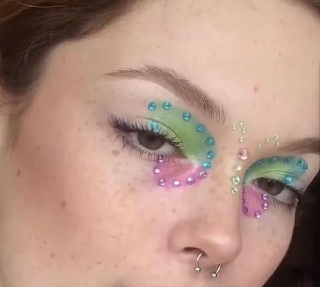 butterfly, eyebrows, and eyeshadow image