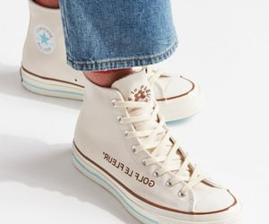 blue jeans, jeans, and white shoes image