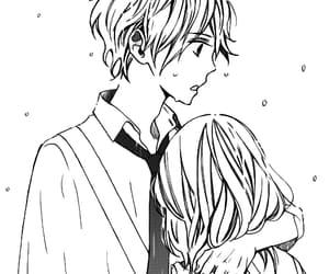 manga girl, manga love, and manga boy image