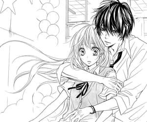 manga girl, manga boy, and manga couple image
