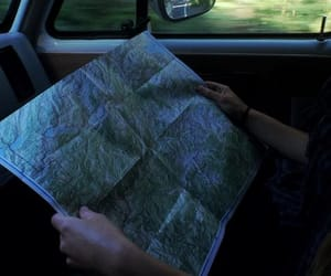 car, map, and aesthetic image