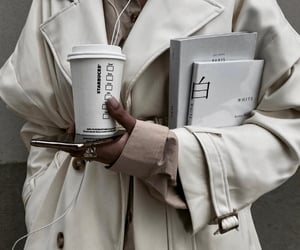 coat, coffee, and business image