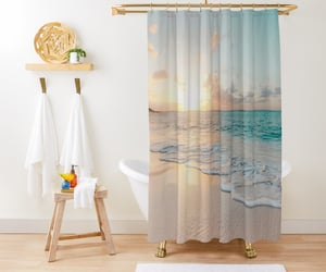home interior and shower curtain image