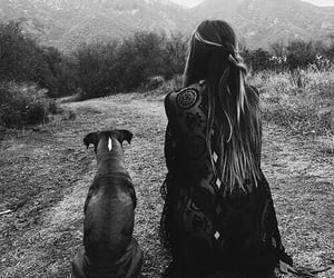 a girl & her dog image