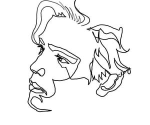 art, drawing, and man image