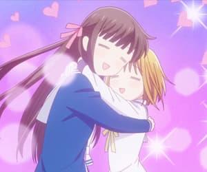 anime, school, and fruits basket image