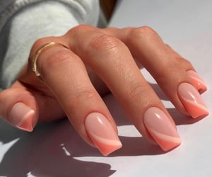 manicure, nails, and square nails image