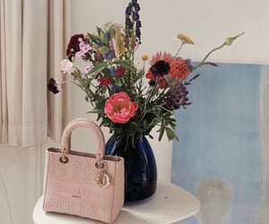 bag, bouquet, and Christian Dior image