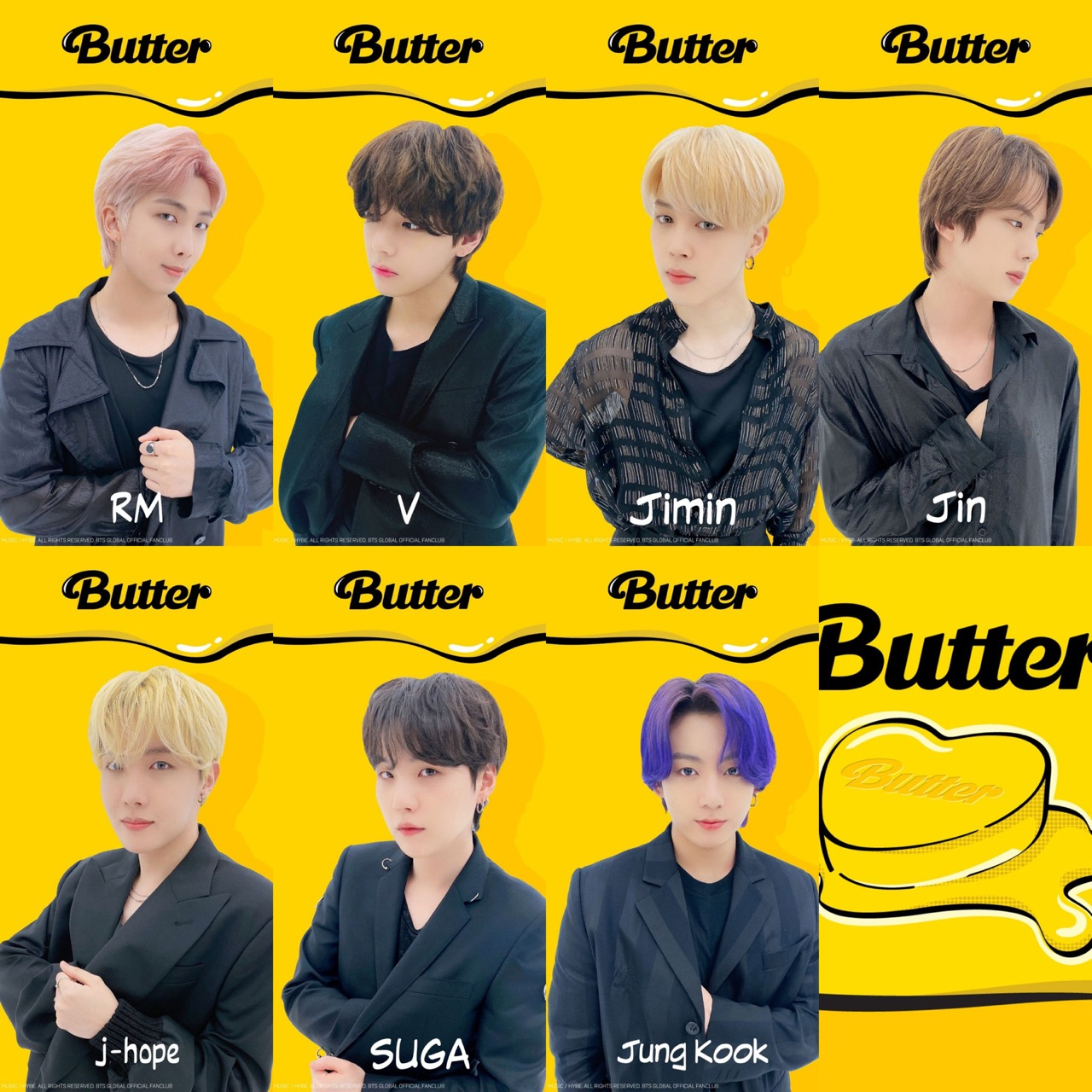 butter, rm, and bts image