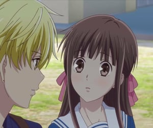 anime, school, and fruits basket image