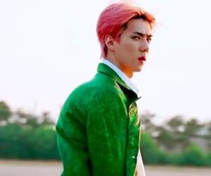 exo, model, and sehun image