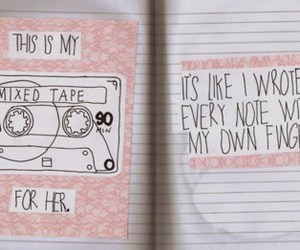 pastel, mixed tape, and pink image