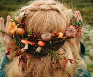 crown, forest, and hair image