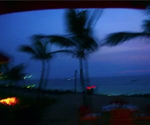 grunge, beach, and night image