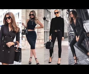 fashion, lookbook, and total black outfits image