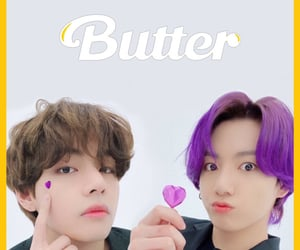 butter, jeon jungkook, and taekook image