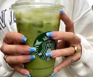 flame, green, and starbucks image