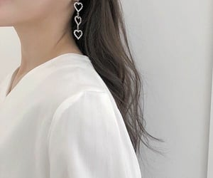 earrings, silver, and ulzzang image