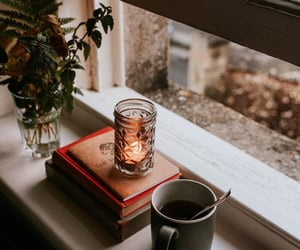 books, candles, and كُتُب image