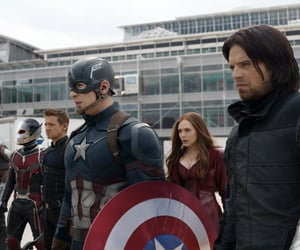 captain america, hawkeye, and scarlet witch image