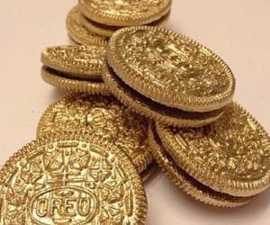 gold, gold aesthetic, and oreos image