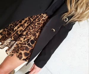 clothes, fashion, and leopard print image