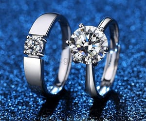 diamond, luxurious, and sterling silver image