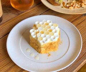 dessert, food, and honeycomb image